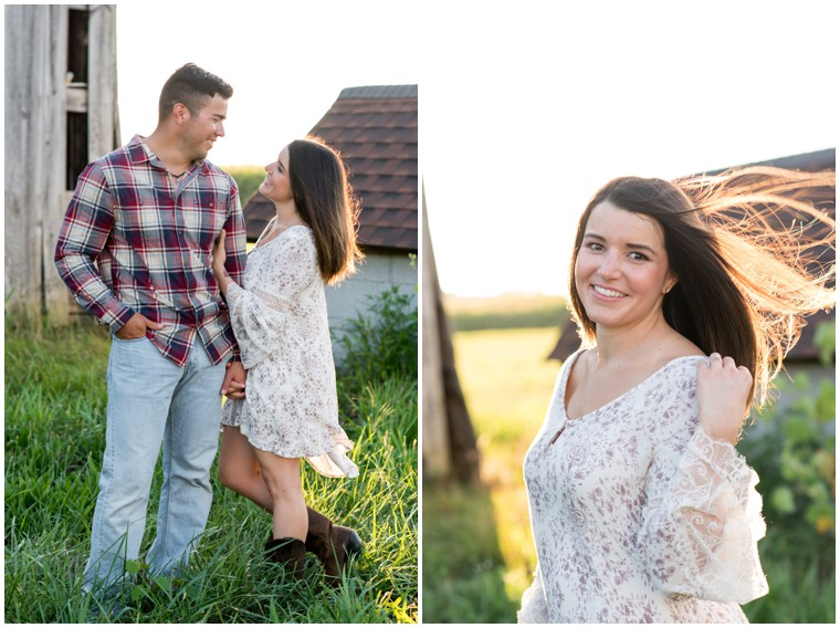 rustic engagement photos
