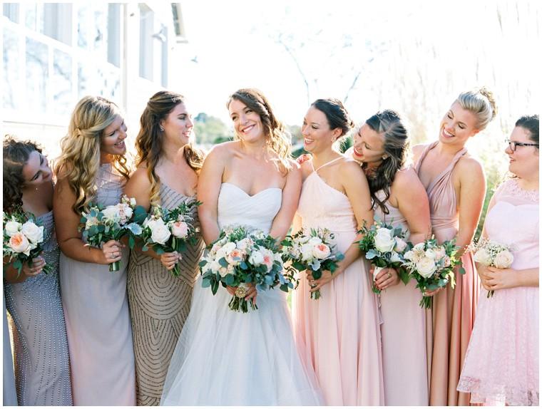 blush and gray wedding