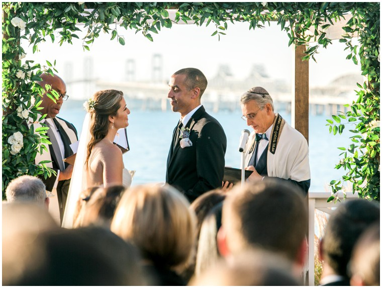Chesapeake Bay wedding, ceremony photography