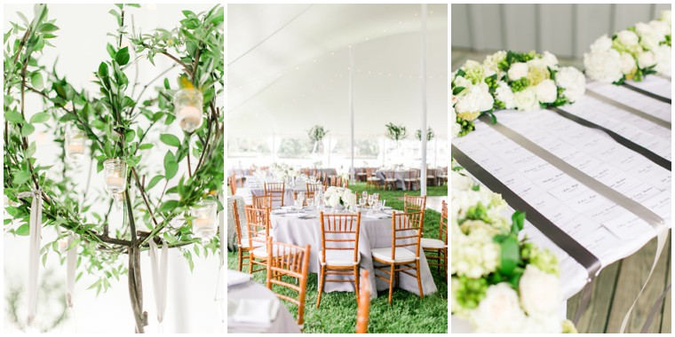 Chesapeake Bay Maritime Museum Wedding, white and green wedding, wedding reception