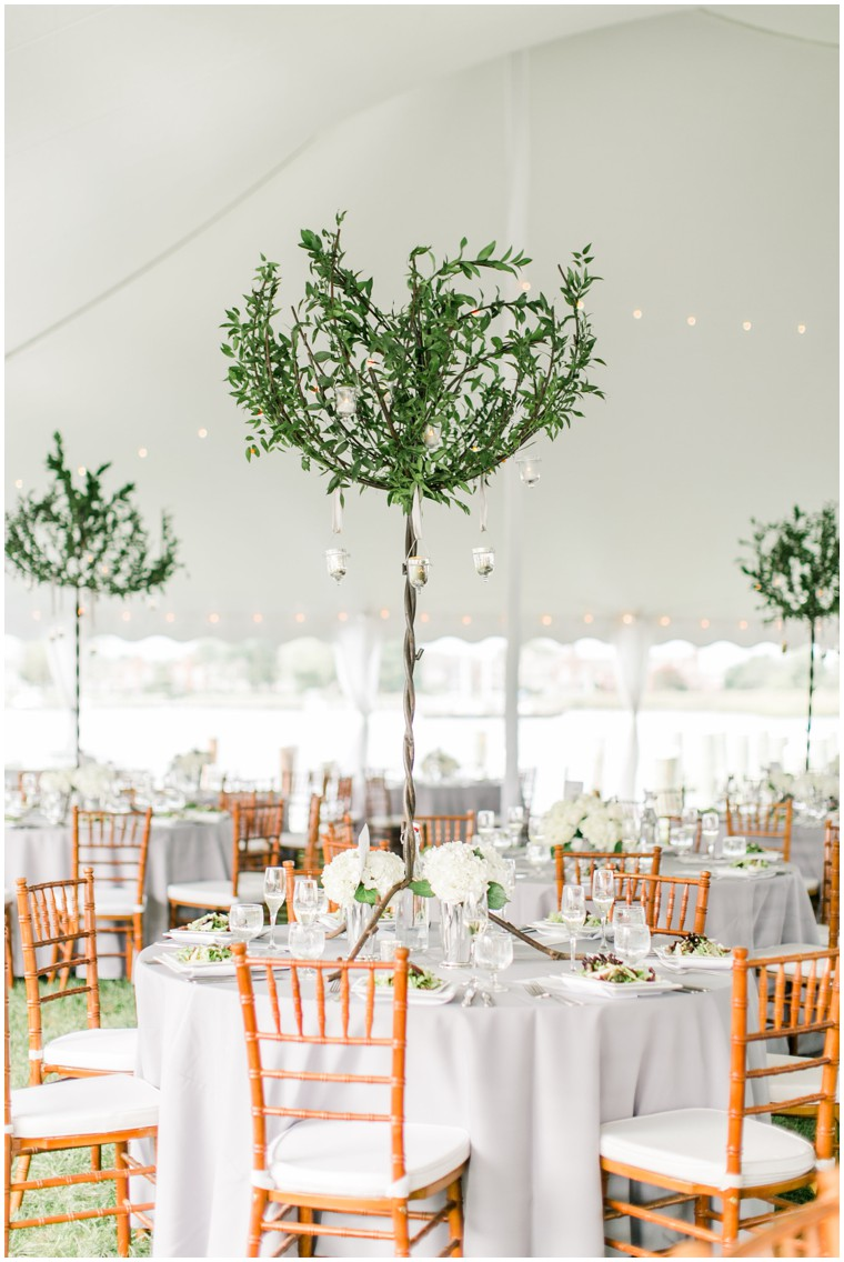Chesapeake Bay Maritime Museum Wedding, white and green wedding