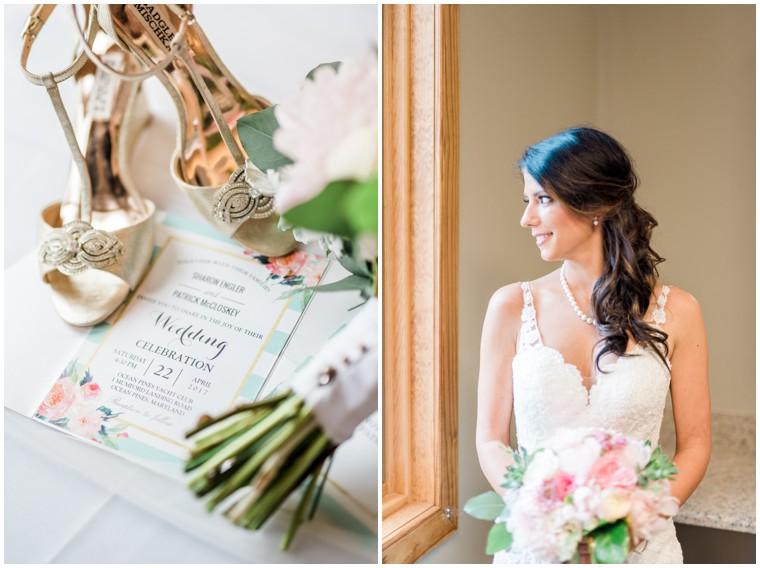 lace bridal gown, wedding invitation, bridal bouquet