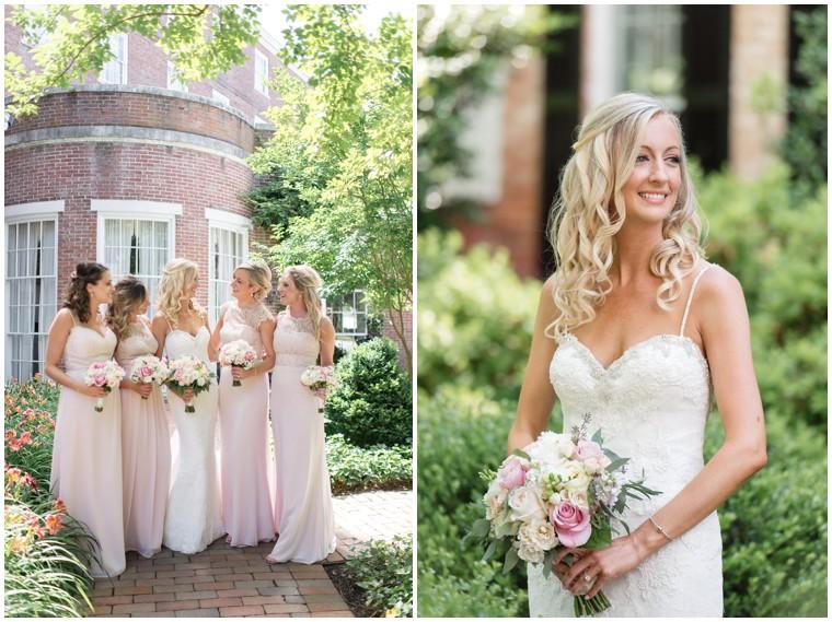 Tidewater Wedding, blush bridesmaid dresses