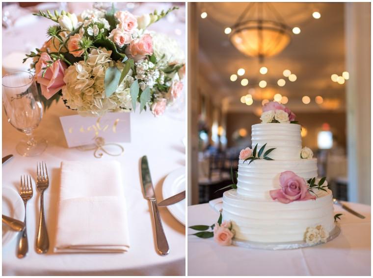 Tidewater Wedding, Tidewater reception, wedding cake, blush tablescape