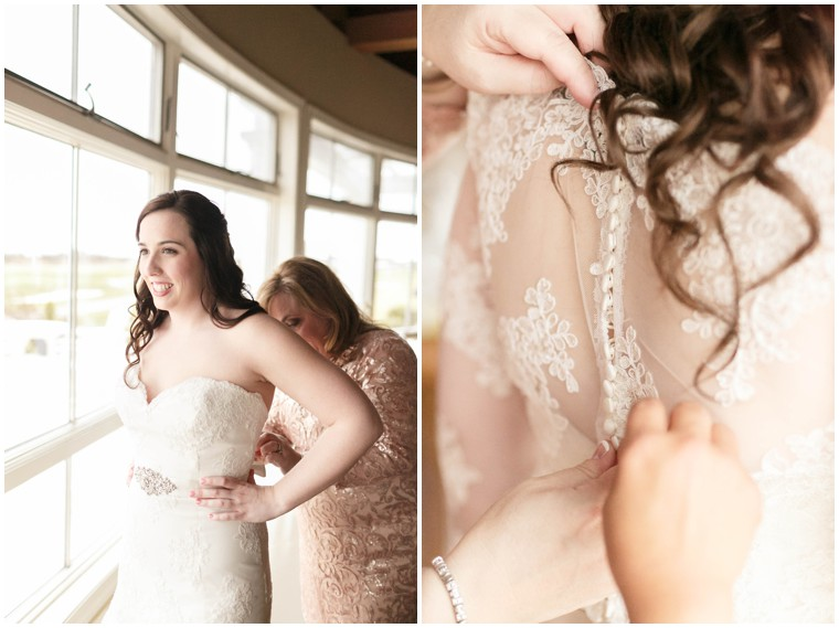 button lace wedding dress