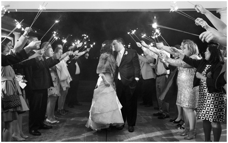 romantic wedding sparkler exit