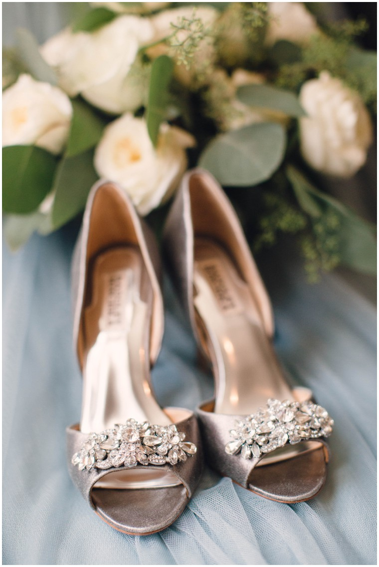 metallic and gem bridal shoes