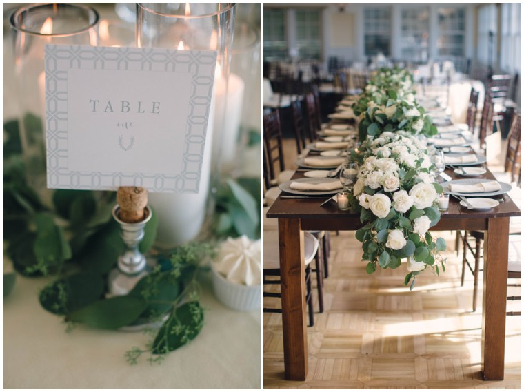 neutral and greenery garland tablescape