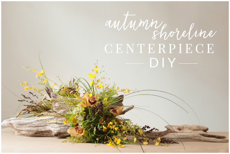 DIY fall driftwood centerpiece