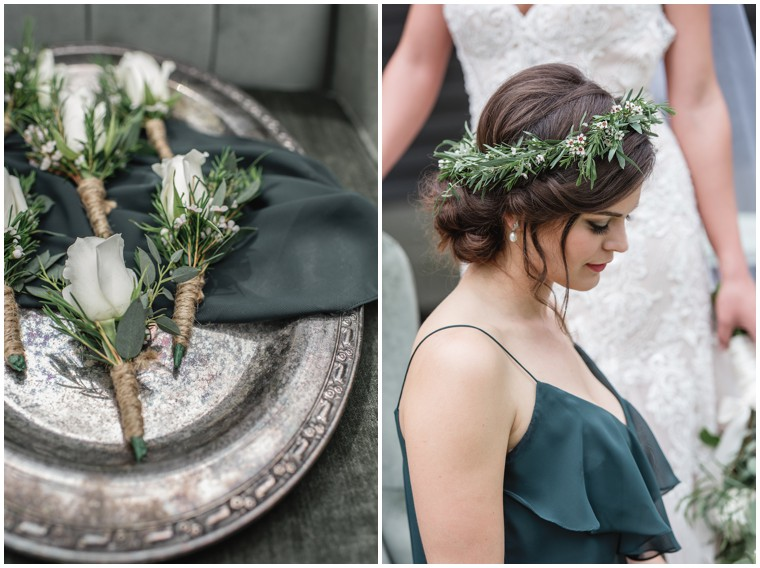 greenery bridesmaid floral crowns