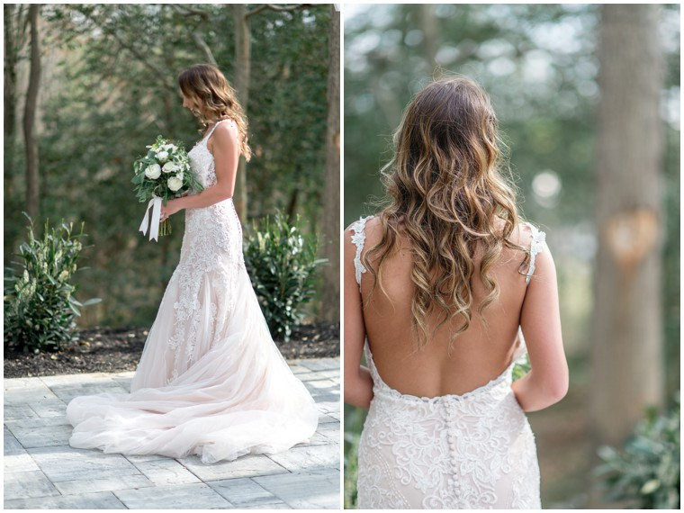 open back lace and tulle wedding dress