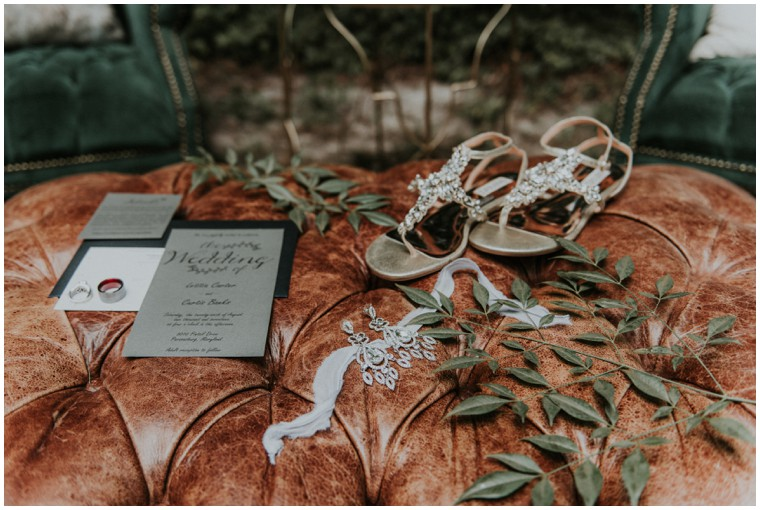earth tone wedding details