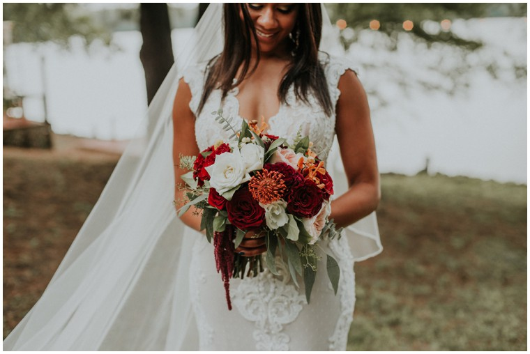burgundy and oxblood bridal bouquet