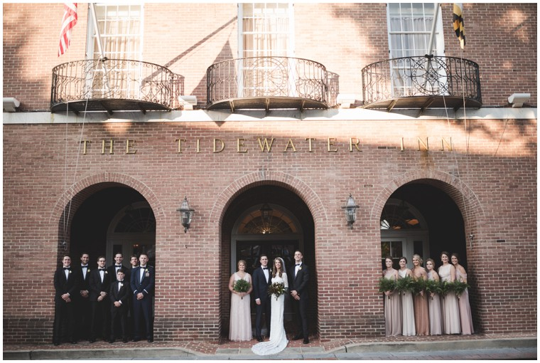 bridal party the tidewater inn downtown easton
