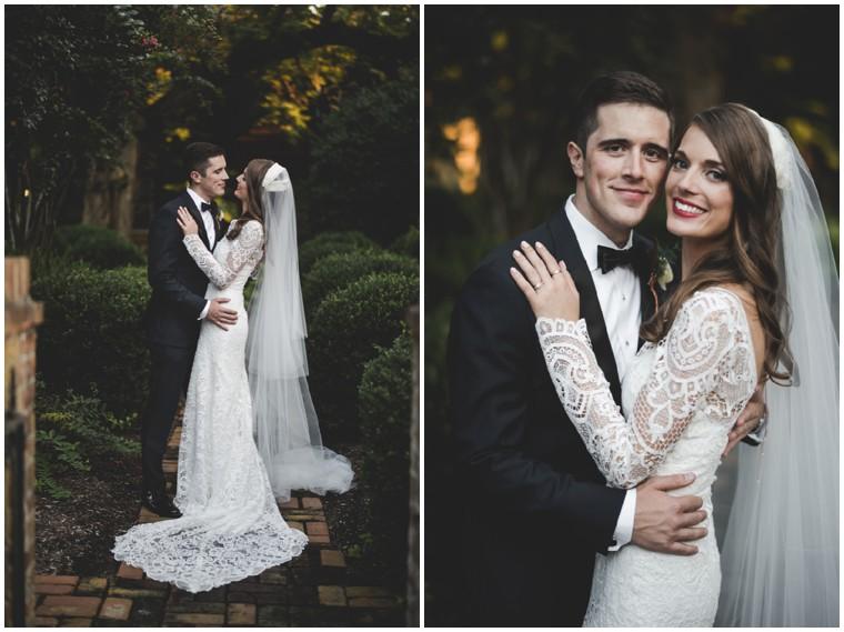 long sleeve graphic lace wedding dress