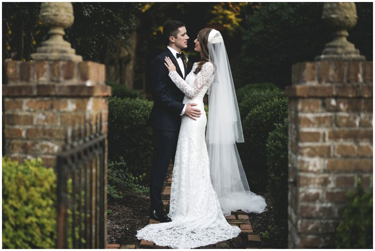 long sleeve graphic lace wedding dress