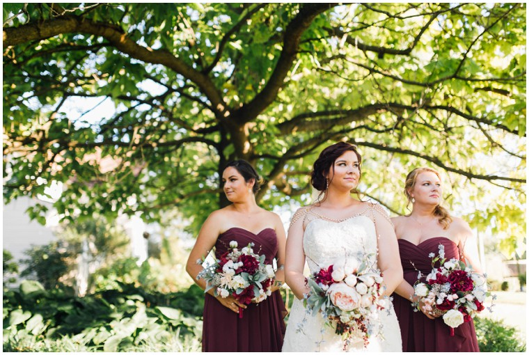 maroon bridesmaid dresses, vintage bridal style