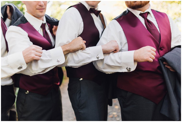 custom groomsmen cufflinks, maroon groomsmen vest