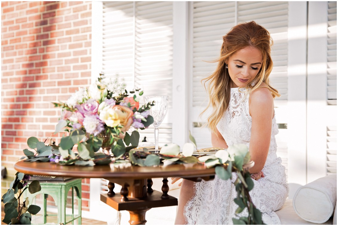 Garden Party Wedding Styled-Shoot featuring pastel details on Maryland's Eastern Shore