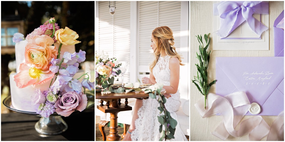 Detail Shots of pastel Garden Party Wedding Styled-Shoot on Maryland's Eastern Shore