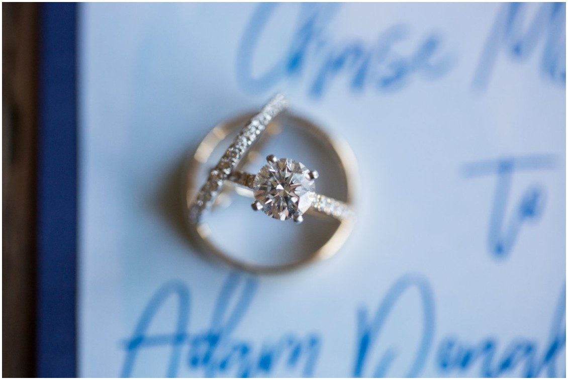 Engagement ring close-up photo. | My Eastern Shore Wedding |