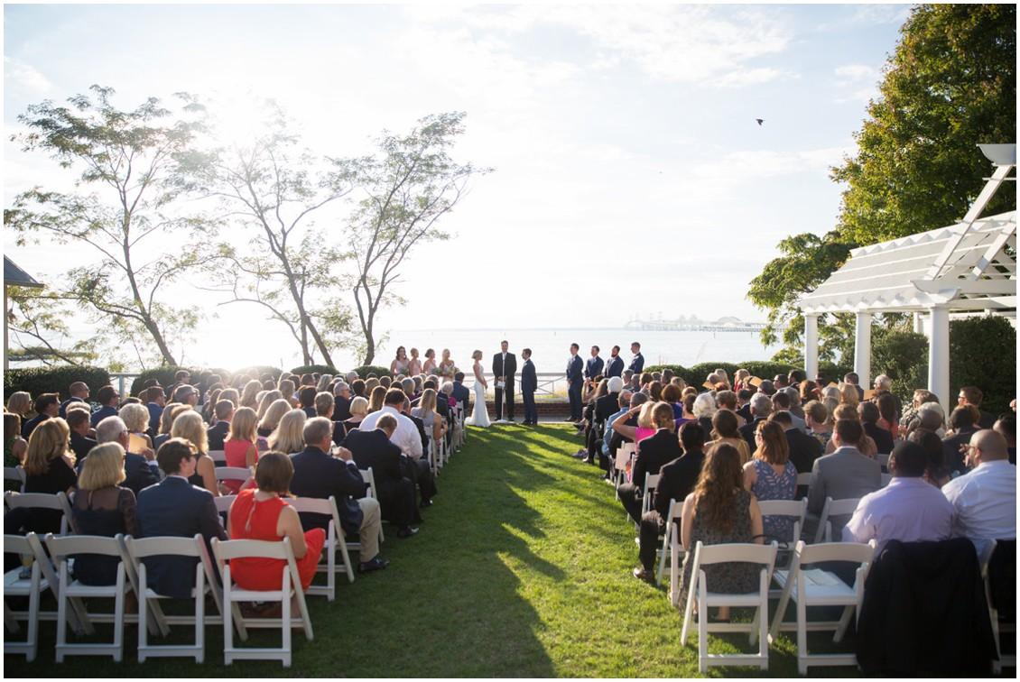 Wedding ceremony at the Chesapeake Bay Beach Club. | My Eastern Shore Wedding |