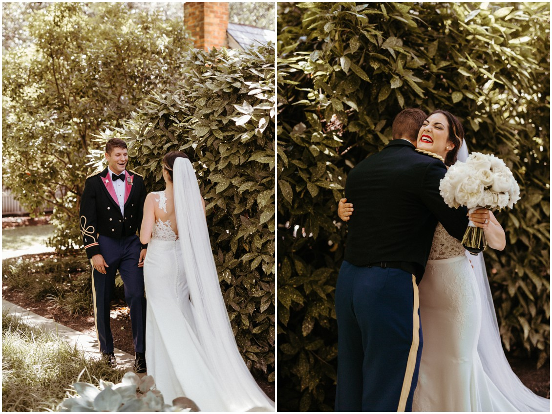 Bride and the groom's reveal on wedding day. | My Eastern Shore Wedding |