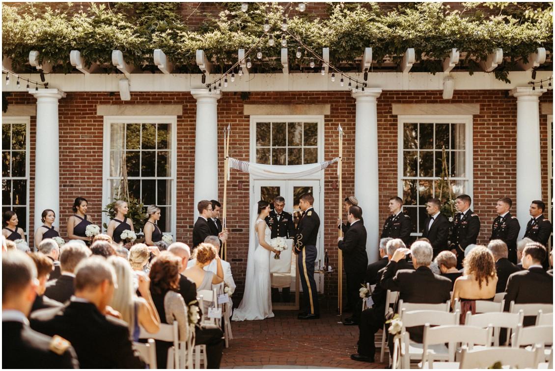 Tidewater Inn wedding, outdoor courtyard ceremony. | My Eastern Shore Wedding |