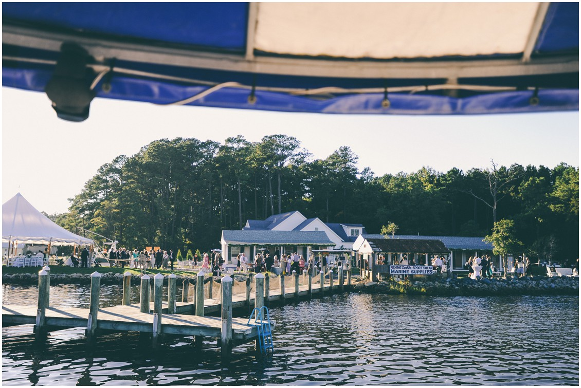 Reception at the Back Bay Bungalows in Ocean City, MD. | My Eastern Shore Wedding |