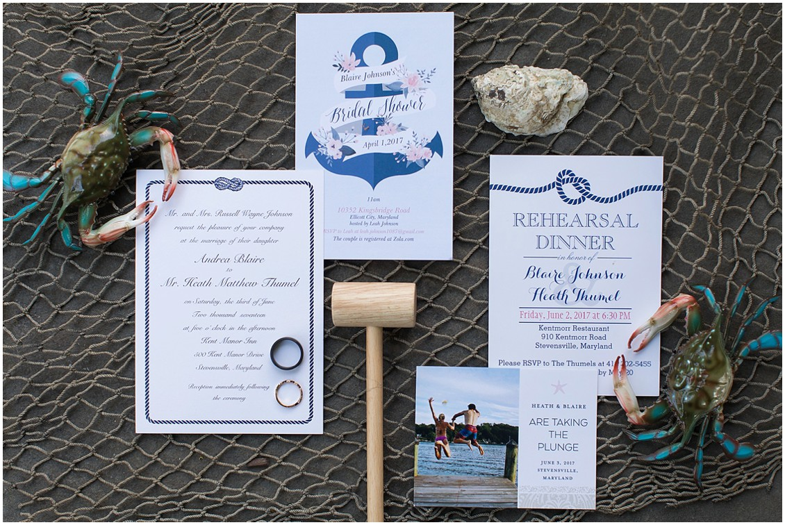 Nautical wedding stationery. | My Eastern Shore Wedding |