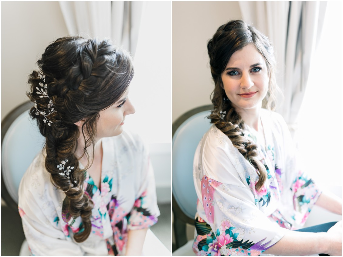 Bride with a side braid. | My Eastern Shore Wedding |
