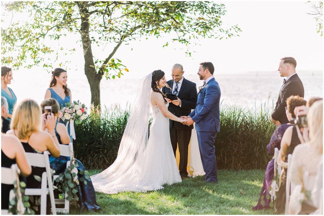 Wedding ceremony at the Chesapeake Bay Beach Club. | My Eastern Shore Wedding |
