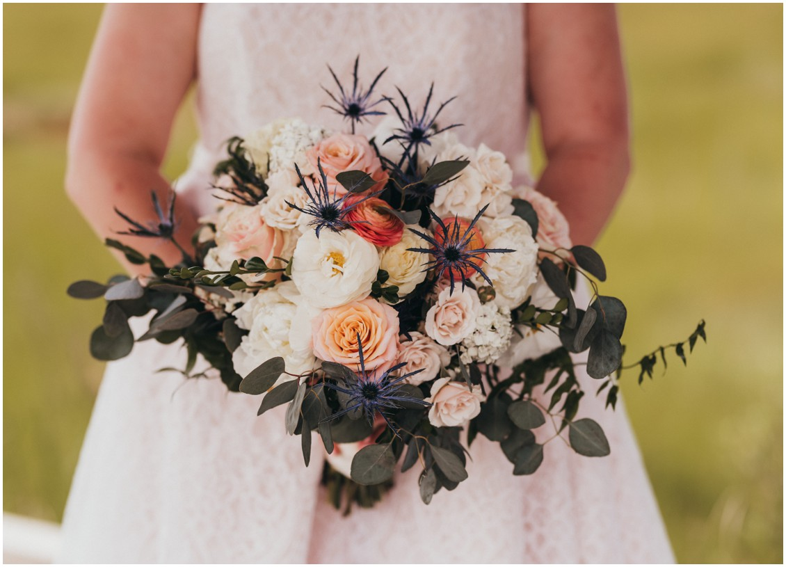 Bridal bouquet by Seaberry Farms. | My Eastern Shore Wedding |