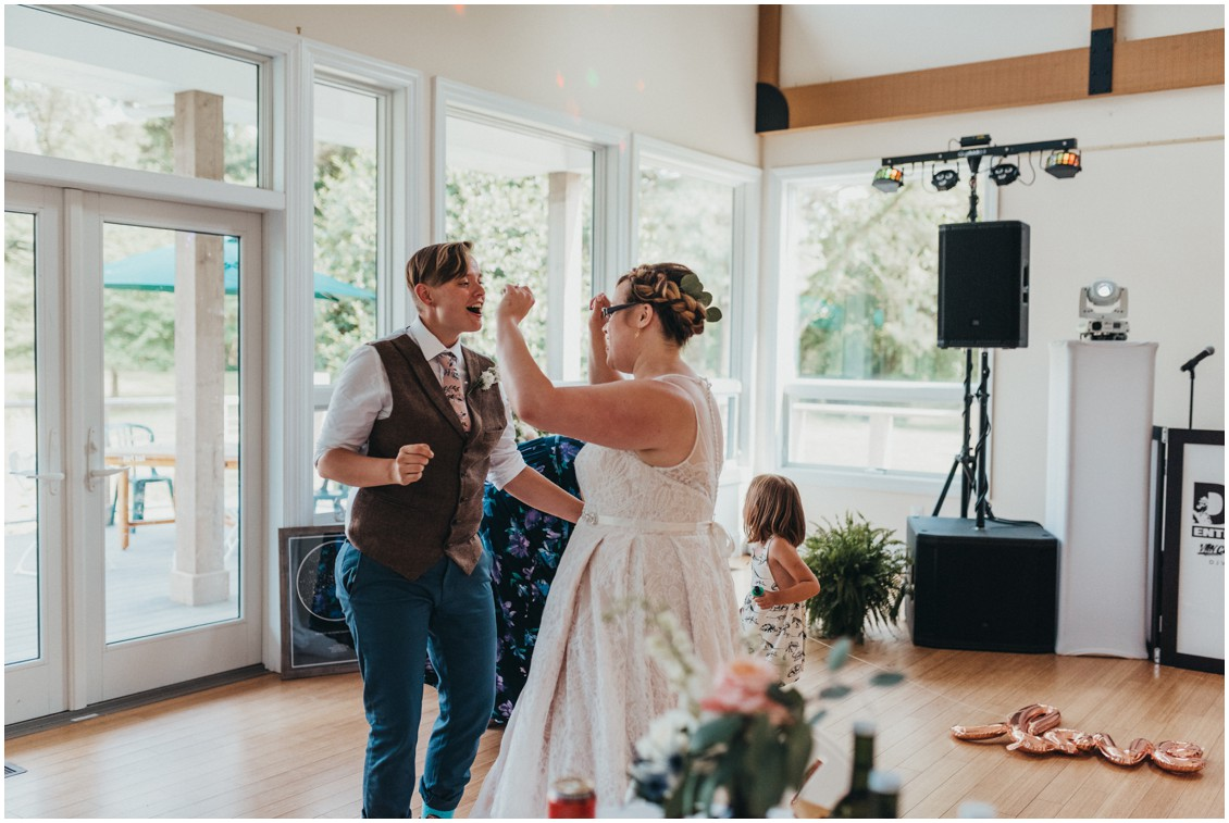 Married couple dancing together at wedding reception. | My Eastern Shore Wedding |