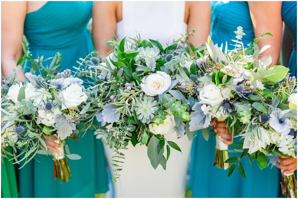 Wedding bouquets by Radebaugh Florist. | My Eastern Shore Wedding |