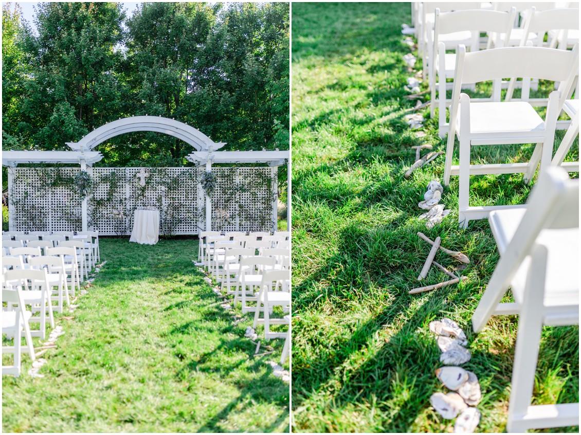 Wedding ceremony aisle at Chesapeake Bay Beach Club. | My Eastern Shore Wedding |