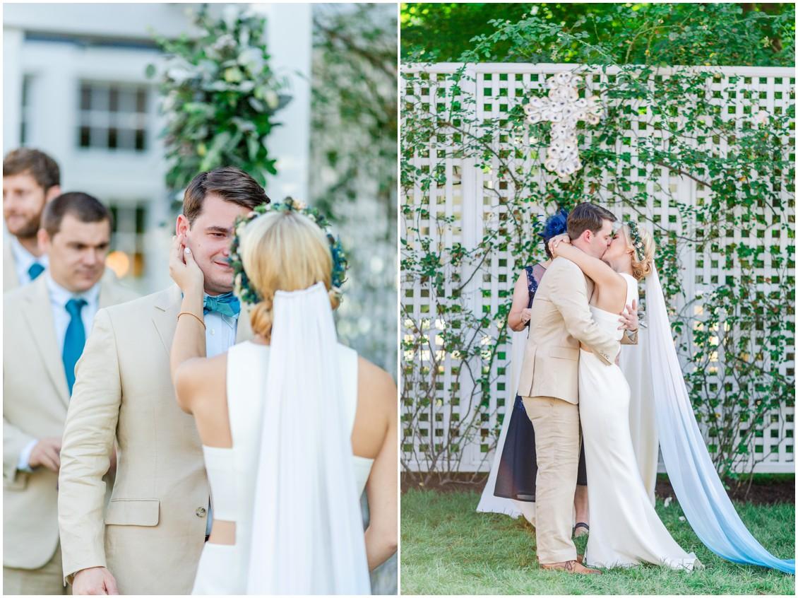 Bride and groom getting married. | My Eastern Shore Wedding |