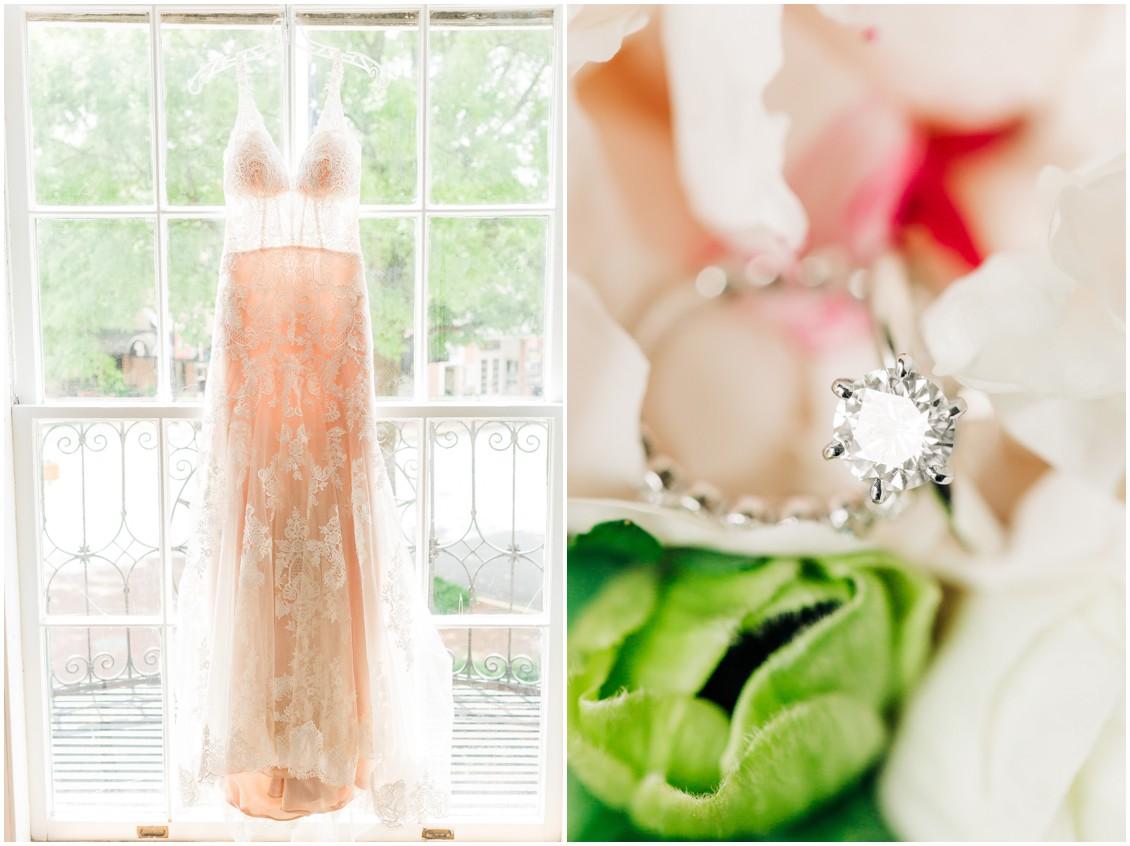 Posh Bridal MD wedding dress | Wedding ring in Sherwood Florist flowers | My Eastern Shore Wedding |