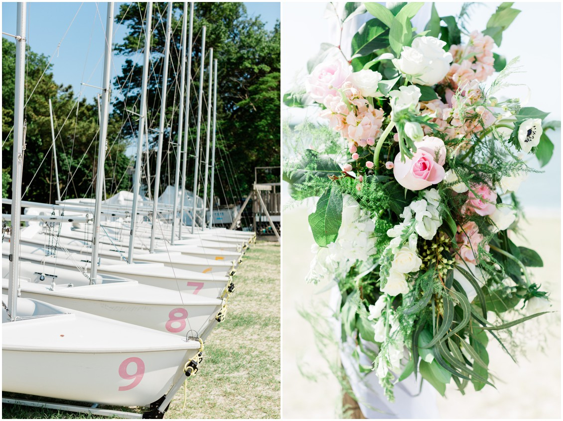 Tred Avon Yacht Club | Sailboats | Sherwood Florist florals | My Eastern Shore Wedding |
