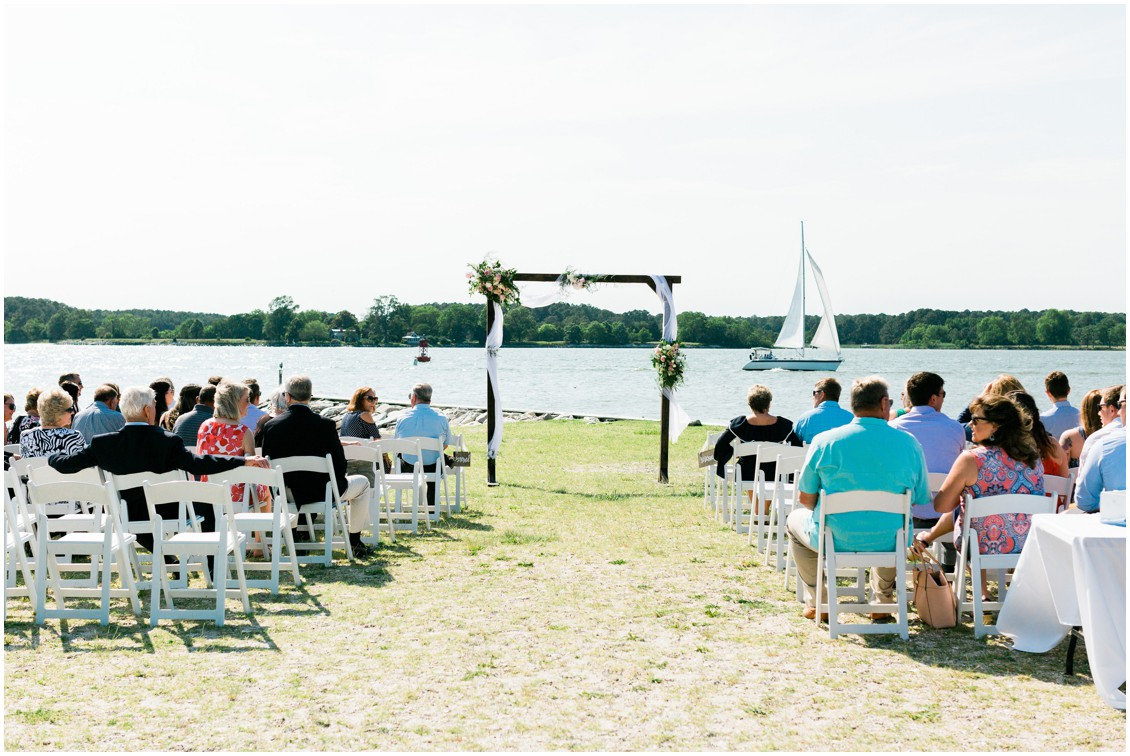 Tred Avon Yacht Club | Oxford, MD | Wedding altar | My Eastern Shore Wedding |
