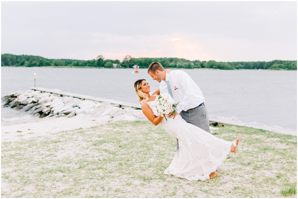 Tred Avon Yacht Club | bride and groom | My Eastern Shore Wedding |