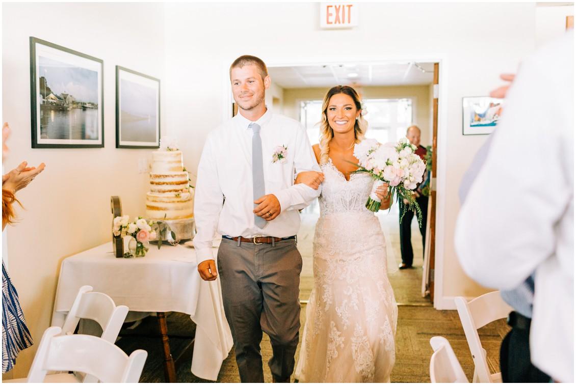 Bride and groom walking into reception | My Eastern Shore Wedding |