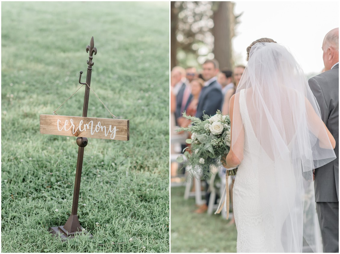 Waterfront ceremony at Brittland Manor | My Eastern Shore Wedding |