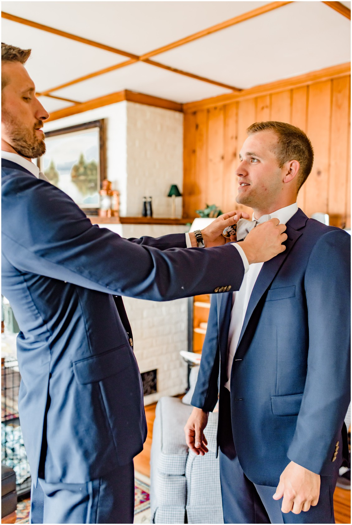 Groom and groomsmen getting ready | Navy Suits | My Eastern Shore Wedding |
