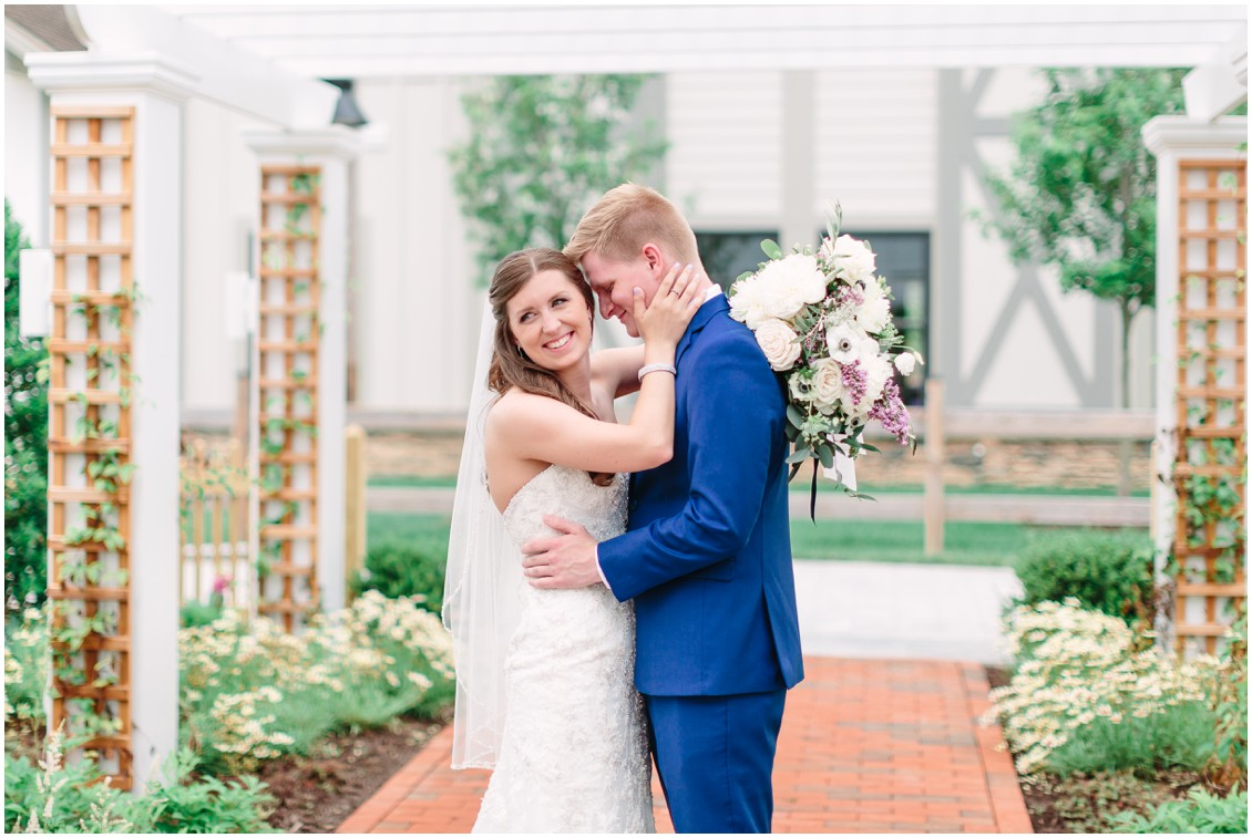Bride and groom reveal | Chesapeake Bay Beach Club | Blue groom's suit | My Eastern Shore Wedding |