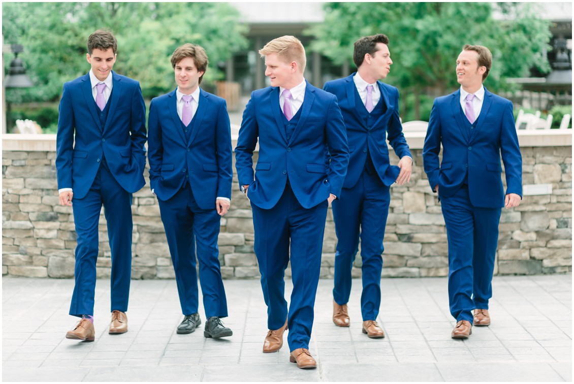 Groom and groomsmen | Blue suits with lavender ties | Chesapeake Bay Beach Club | My Eastern Shore Wedding