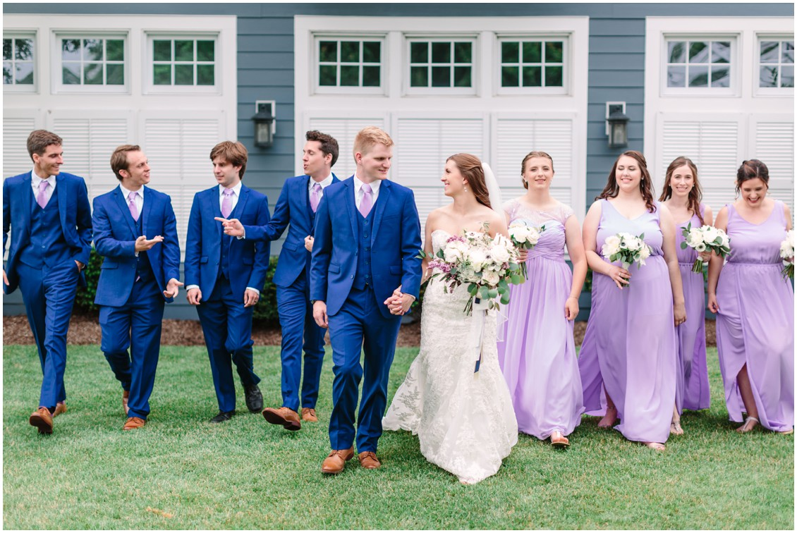Bridal party | Blue and lavender | My Eastern Shore Wedding |