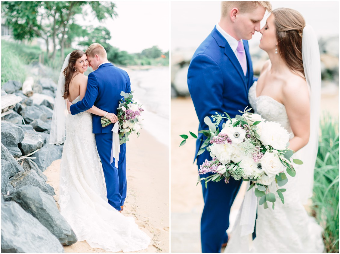 Bride and groom | Photos on the beach at Chesapeake Bay Beach Club | My Eastern Shore Wedding