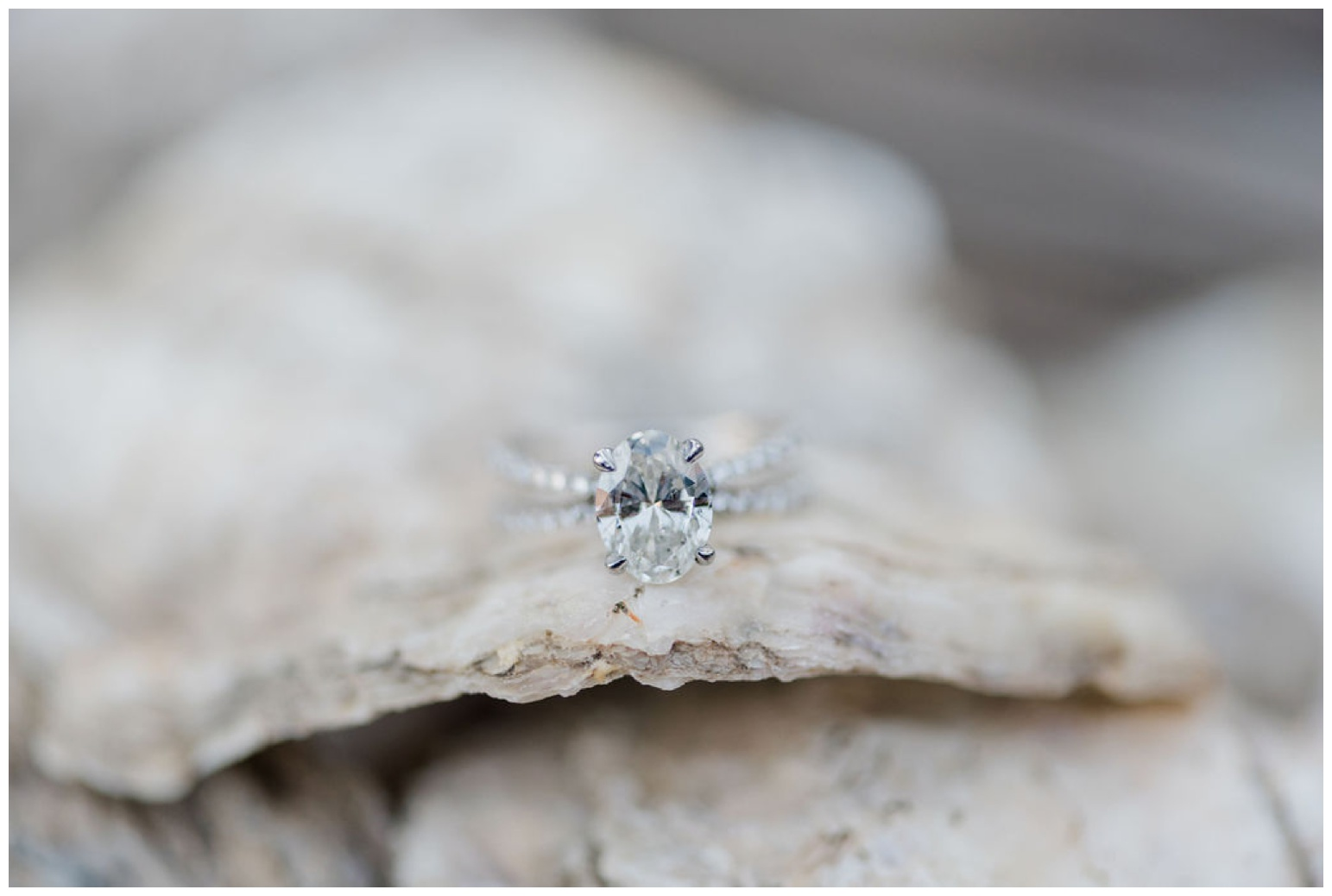 coastal - chesapeake bay - nautical - ocean - beach inspired engagement ring - diamond ring photo for the couple who loves the beach sailing the ocean the bay being outdoors
