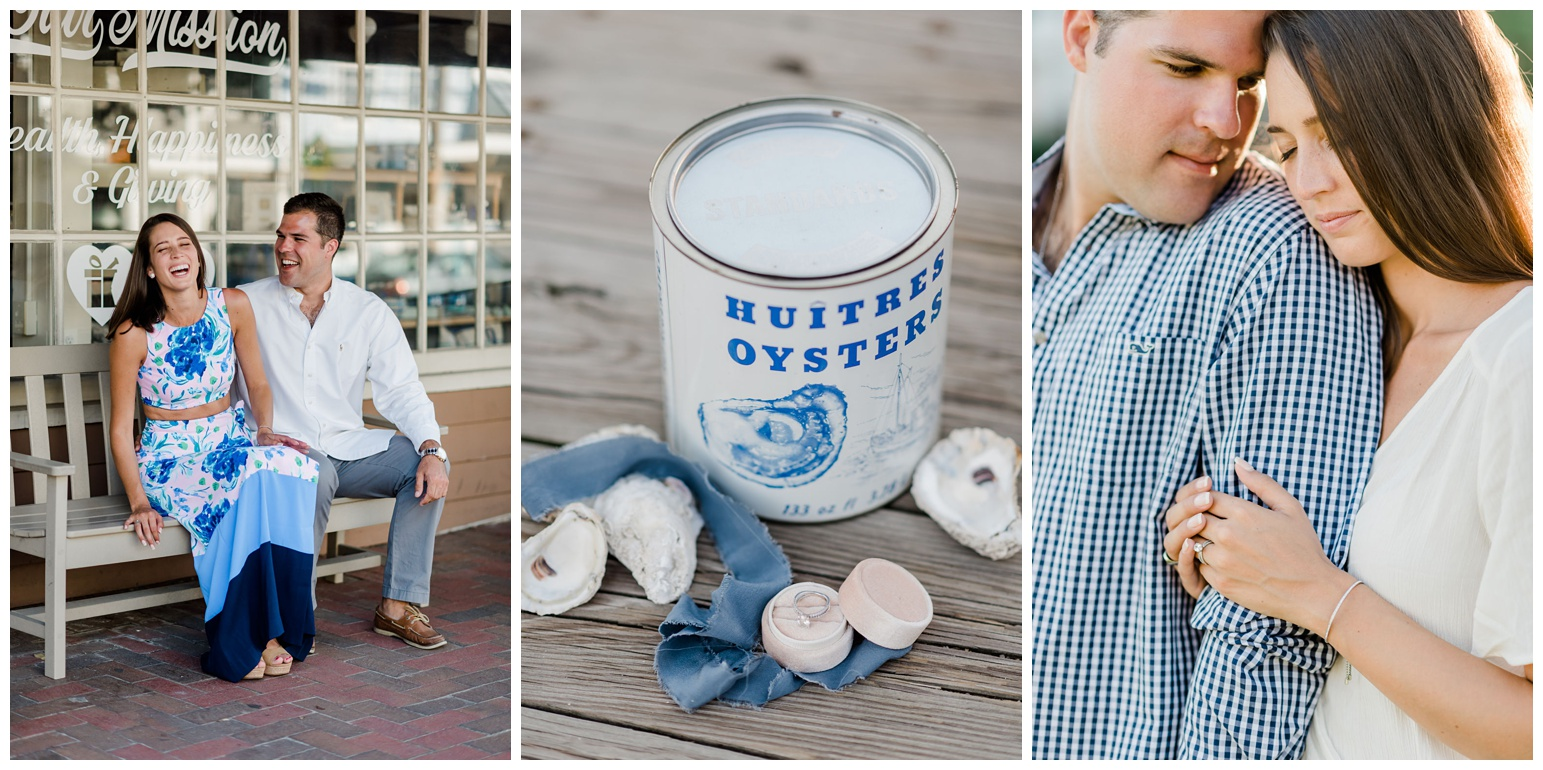 classic chesapeake bay inspired engagement photos - session - on maryland eastern shore town of st. michaels